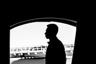 His silhouette